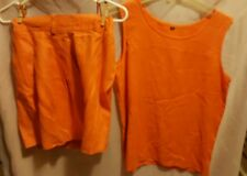I B Diffusion linen  shorts & blouse size 4 vibrant color 4 summer very classy