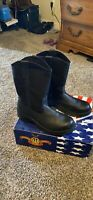 """Thorogood Boots 804-6111 Softstreets 10"""" Wellington Safety Toe Mens Size 9W"""