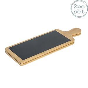 Slate Bamboo Food Antipasti Tapas Serving Paddle Board Dining Wedding 455x150 x2