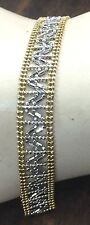 14K GOLD TWO TONE MESH WOMEN'S BRACELET