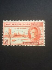 NORTHERN RHODESIA 1946 VICTORY SG46a USED CAT £11
