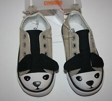 New Gymboree Canvas Windy Puppy Tan Shoe with Puppy Face Size 4 Toddler Boy NWT