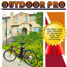 Yukon Trail Electric Bicycle Power Bike 24V 250W Red E-Bike Assembled in USA