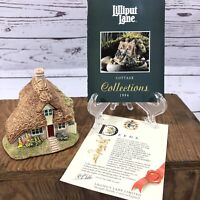 Lilliput Lane Two Hoots Cottage 1994 Figurine In Original Box With And Deed