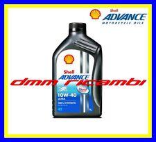 2 Litri Olio Motore 4 tempi SHELL ADVANCE ULTRA4 10W40 100% Sintetico API SM MA2