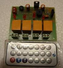 IR 4 Channel Remote Controlled Relay Board Module Home /Office Automation