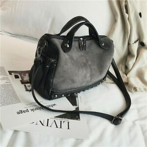 New Women Suede Leather Handbags Tote Large Shoulder Soft Bag Crossbody Bag