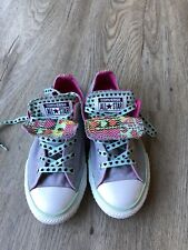 Girls Converse Grey Double Tongue trainers Size 1, Excellent condition
