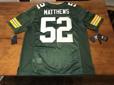 100% AUTHENTIC Nike Green Bay Packers Limited Sewn Jersey Clay Matthews LG NFL