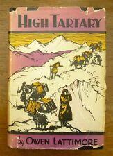 1930 HIGH TARTARY Rare Jacket OWEN LATTIMORE Photos TURKESTAN Exploration CHINA