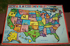 Automotive 1962 De Pauw Chevrolet PROMO dealer's premium puzzle USA NEWARK NY