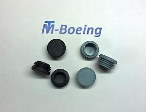 Lamellenstopfen Endkappen Stopfen Gleiter für Rund-Rohr D=30 grau + schwarz