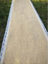 Burlap with Lace Aisle Runner Wedding Aisle Runner
