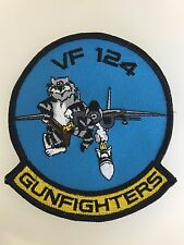 U.S. Navy Aviation VF-124 'Gunfighters' TOMCAT cloth embroidered squadron patch