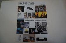 Cambridge Audio AZUR catalog 2016 brochure CD DVD player AZUR 851E, amplifier