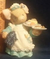 This Little Piggy SERVING UP THE SLOP TLP Logo on Ear Enesco Figurine 1995