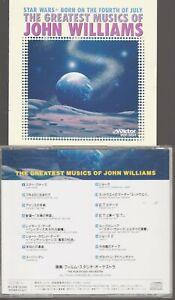 The Greatest Musics Of John Williams Cd Import Japan (no obi) Jaw E.T. Star Wars