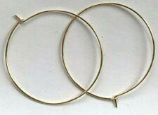 """5  Pairs Genuine 14kt. Gold Filled Big Hoop Earrings - 1 1/2"""" Diameter !!"""