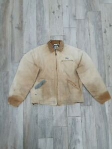 Vintage Carhartt 80s Chore Sandstone Workers Detroit Jacket Size  extra Large