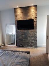 Split face Slate wall Tiles - rock face Slate wall cladding - 3 d effect tiles