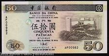 MACAO MACAU CHINA 50 PATACAS P92a 1995 BUS UNC BOC CURRENCY MONEY BILL BANKNOTE