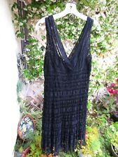 MAX STUDIO Dress BLACK sheath lace party sleeveless L LARGE VERY PRETTY ON Lined