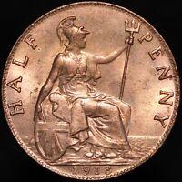 1913   George V Half-Penny   Bronze   Coins   KM Coins