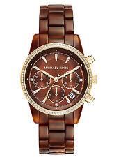 NEW Michael Kors MK6279 Women's Ritz Brown Quartz Watch