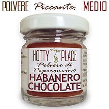 HABANERO CHOCOLATE Polvere Peperoncino Piccante MEDIO molto aromatico 10g vaso