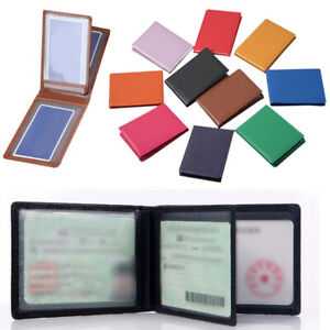 Leather Driving License Holder Case Document Solid Business Card Holder Wallet