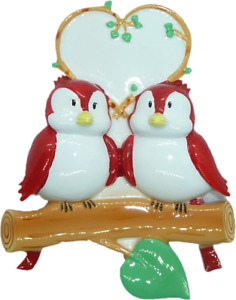 Personalised Christmas Decoration - Love Birds