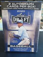 2020 LEAF DRAFT Baseball Sealed Blaster Includes 2 Autos & 50 card Complete Set.