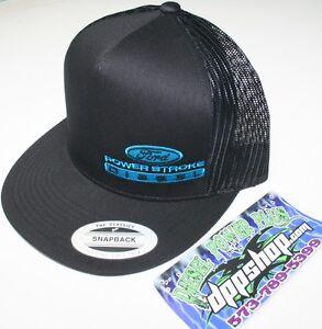 ford powerstroke trucker Flat bill ball cap hat snap back mesh classic 7.3 gear