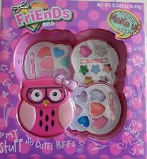 GIRLS KIDS TOTALLY FRIENDS MAKEUP KIT OWL AGE 3 UP   NEW IN BOX,  SO CUTE