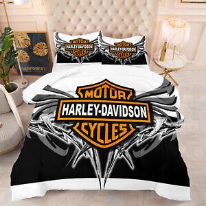 Harley Davidson 3D Comforter Bedding Set Duvet Quilt Set with Pillowcase#5010