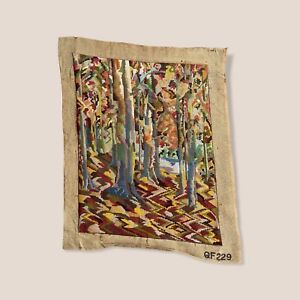 Antique / Vintage  1920s Completed Needlepoint (Tapestry) 70 x 56 cm
