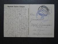 Germany 1940 Feldpost Card / Erlangen CDS / Center Fold - Z10103