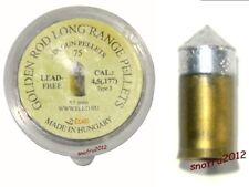 Skenco 75pcs GOLDEN ROD Long Range airgun air rifle pellets 0.177 4.5mm
