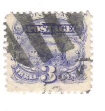 Scott 114 Early US Stamp 3c Pictorial..Train...1869... Fancy Cancel