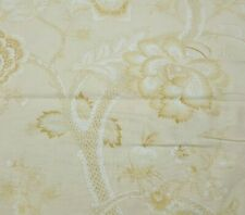 Jacobean Jewels BTY Red Rooster Tonal Tan Ivory White Large Floral