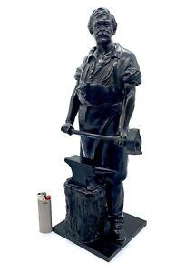 Große Bronze Figur - Signiert - Schmied - Schmiemann