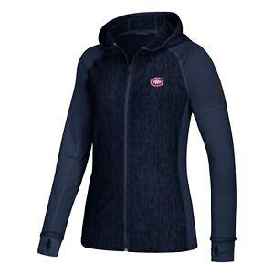 Montreal Canadiens NHL Adidas Women's Navy limalite Vertical Heather  Hoodie