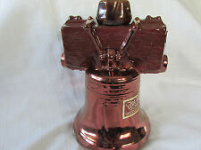 EZRA BROOKS CHINA WHISKEY DECANTER, LIBERTY BELL