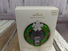 Hallmark keepsake wreath mp3 docking station sound like magic ornament tree card