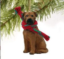 BULLMASTIFF MASTIFF DOG CHRISTMAS ORNAMENT HOLIDAY XMAS Figurine Scarf Pet Gift