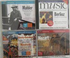 4 BBC Music Magazine CD's Berloiz Mozart Mahler Mussorgsky