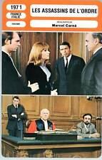 LES ASSASSINS DE L'ORDRE - Brel,Rouvel,Carné (Fiche Cinéma) 1970 - Law Breakers