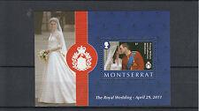 Montserrat 2011 MNH Royal Wedding 1v S/S Prince William Kate Middleton