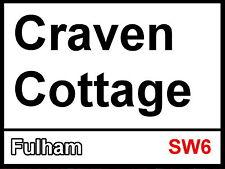 Fulham fc Craven Cottage Street Sign Metal Aluminium Football ground stadium