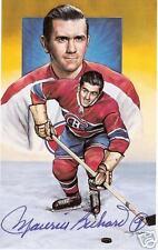 Maurice Richard Autographed Hockey Legends Card HOFer
